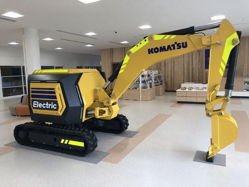 Komatsu debuts concept electric remote-control mini excavator